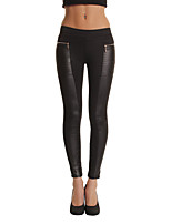 cheap -Women's Street chic Slim Skinny Chinos Pants - Solid Colored Patchwork Low Waist