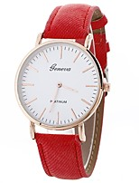 cheap -Women's Quartz Fashion Watch Chinese Large Dial PU Band Creative Casual Black White Blue Red Brown Green Yellow