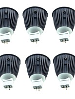 abordables -6pcs 4.5W 600lm MR16 Spot LED 1 Perles LED COB Blanc Chaud Blanc Froid 220-240V