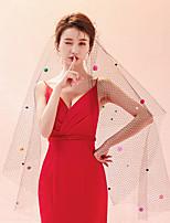 abordables -Une couche Classique & Intemporel Chic & Moderne Voiles de Mariée Voiles chepelle Avec Ornement Tulle