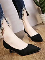 cheap -Women's Shoes PU(Polyurethane) Spring / Summer Basic Pump Heels Stiletto Heel Pointed Toe Black / Khaki