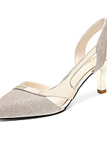 baratos -Mulheres Sapatos Micofibra Sintética PU Primavera / Outono Gladiador / Plataforma Básica Saltos Salto Agulha Dedo Apontado Dourado / Prata