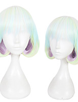cheap -Synthetic Wig Straight Layered Haircut Synthetic Hair Natural Hairline Green Wig Women's Short Cosplay Wig Capless Christmas