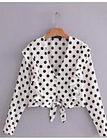 Недорогие -Жен. С кисточками Блуза Деловые Винтаж Однотонный