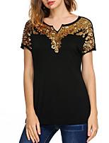 cheap -Women's Basic T-shirt - Geometric, Print