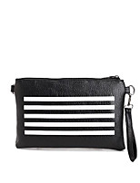cheap -Women's Bags PU Clutch Zipper for Casual Black