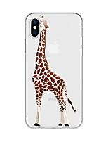 Недорогие -Кейс для Назначение Apple iPhone X / iPhone 8 Plus С узором Кейс на заднюю панель Животное / Мультипликация Мягкий ТПУ для iPhone X / iPhone 8 Pluss / iPhone 8