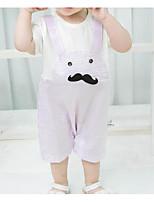 Недорогие -малыш Универсальные Однотонный С принтом Короткие рукава 1 предмет