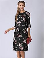 cheap -SHE IN SUN Women's Basic Street chic Shift Dress - Floral Print