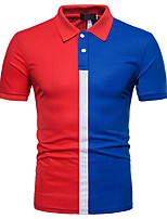 cheap -Men's Basic Street chic Polo - Color Block, Patchwork