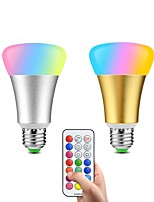cheap -2pcs 10W 600lm lm E26/E27 LED Smart Bulbs 32pcs leds SMD 5050 Dimmable Decorative Remote-Controlled Color-changing 85-265V