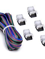 Недорогие -ZDM® 1шт 5050 SMD Конвертер Газонокосилка Электрический разъем пластик для RGB LED Strip Light