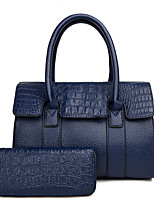 cheap -Women's Bags Leather Bag Set 2 Pieces Purse Set Zipper for Office & Career Gold / Black / Red