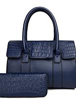 cheap -Women's Bags Leather Bag Set 2 Pieces Purse Set Zipper Gold / Black / Red