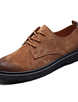 cheap -Men's Shoes Pigskin Spring / Fall Comfort Sneakers Black / Gray / Brown