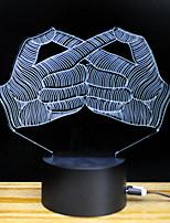 Недорогие -3D ночной свет Поменять USB Стресс и тревога помощи Украшение Безопасность Креатив Меняет цвета 5V 3D