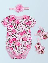 cheap -Baby Girls' Floral Short Sleeve Romper