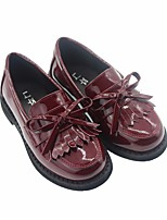 cheap -Girls' Shoes Synthetic Microfiber PU Spring Fall Comfort Loafers & Slip-Ons for Casual Black Pink Wine