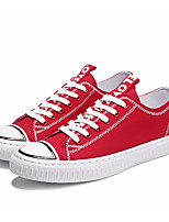 cheap -Men's Shoes Canvas Spring / Fall Comfort Sneakers White / Black / Red