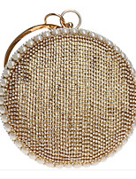 cheap -Women's Bags PU Evening Bag Beading Gold / Black / Silver