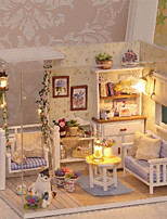cheap -3D Wooden Miniaturas Dollhouse Dollhouse Toy Toys Exquisite Romance Lovely Pieces Birthday Gift