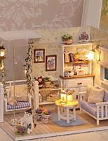 Недорогие -3D Wooden Miniaturas Dollhouse Кукольный домик утонченный Милый Романтика Куски Детские Взрослые Подарок