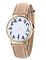 cheap -Women's Quartz Fashion Watch Chinese Large Dial PU Band Minimalist Fashion Black White Blue Red Brown Beige Rose