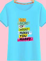 abordables -Mujer Bonito Camiseta Letra