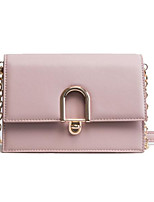 cheap -Women's Bags Cowhide Shoulder Bag Zipper for Event / Party Casual All Seasons Blue Black Blushing Pink Light Gray