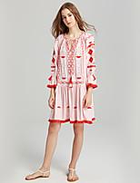 cheap -SHE IN SUN Women's Basic Boho Shift Dress - Color Block