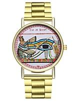 baratos -Homens Mulheres Quartzo Único Criativo relógio Relógio de Moda Japanês Cronógrafo Mostrador Grande Relógio Casual Aço Inoxidável Banda