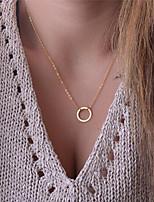 preiswerte -Herrn Damen Anhängerketten - Grundlegend Modisch Kreisform Modische Halsketten Für Geschenk Alltag