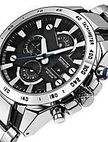 cheap -Men's Quartz Dress Watch Japanese Calendar / date / day / Chronograph / Water Resistant / Water Proof / Large Dial Stainless Steel Band
