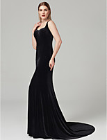 cheap -Sheath / Column Sweetheart Sweep / Brush Train Velvet Cocktail Party / Formal Evening / Black Tie Gala / Holiday Dress with Pleats by TS