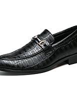 Недорогие -Муж. Кожаные ботинки Синтетика Весна / Осень Деловые / На каждый день Мокасины и Свитер Дышащий Черный / Белый