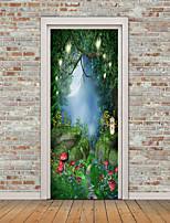 abordables -Paysage A fleurs/Botanique Stickers muraux Autocollants avion Autocollants muraux 3D Autocollants muraux décoratifs Autocollants de sol,