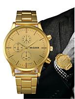 Недорогие -Муж. Нарядные часы Золотистый Секундомер Творчество Крупный циферблат Аналоговый Роскошь - Черный Золотистый Один год Срок службы батареи / SSUO LR626