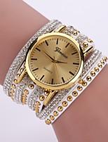preiswerte -Damen Quartz Armband-Uhr Armbanduhren für den Alltag Chinesisch Armbanduhren für den Alltag PU Band Freizeit Modisch Schwarz Weiß Blau