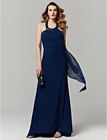 cheap -Sheath / Column Halter Sweep / Brush Train Chiffon Prom / Formal Evening Dress with Beading by TS Couture®