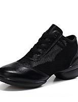 cheap -Women's Dance Sneakers Calf Hair Sneaker Daily Practice Flat Heel White Black Dark Red Customizable