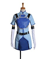 cheap -Inspired by Sword Art Online Cosplay Anime Cosplay Costumes Cosplay Suits Other Short Sleeves Coat Skirt Gloves More Accessories Waist