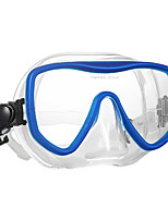 cheap -WAVE Swim Mask Goggle / Snorkel Mask Anti Fog, Water Resistant / Water Proof Two-Window - Diving, Swimming Silicon Rubber, Tempered Glass