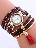 baratos -Mulheres Quartzo Relógio de Moda Chinês imitação de diamante PU Banda Casual Fashion Preta Branco Azul Vermelho Cinza Dourada