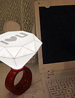 cheap -1pc Diamond LOVE LED Night Light White Button Battery Powered Romantic Decoration Birthday LED Light USB LED Light Gifts