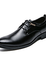 preiswerte -Herrn Schuhe Leder Frühling Sommer formale Schuhe Outdoor Niete für Hochzeit Party & Festivität Schwarz Gelb