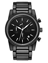 cheap -Men's Quartz Fashion Watch Chinese Calendar / date / day Water Resistant / Water Proof Stopwatch Alloy Band Casual Black
