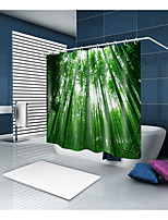 cheap -Shower Curtains & Hooks Casual Country Polyester Solid Colored Novelty Machine Made Waterproof Bathroom