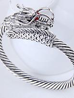 preiswerte -Herrn Damen Drache Manschetten-Armbänder - Retro Modisch Europäisch Silber Armbänder Für Alltag