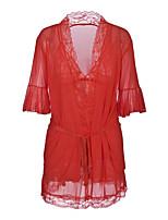 abordables -Costumes Nuisette & Culottes Vêtement de nuit Femme - Dentelle, Couleur Pleine