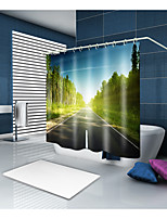 cheap -Shower Curtains & Hooks Classic Country Polyester Contemporary Novelty Machine Made Waterproof Bathroom
